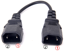 3 Port House Plug (Multi-Plug) to 3 Pin House Plug (Multi-Plug) Battery Charger Adapter for Electric Scooters and Bicycles