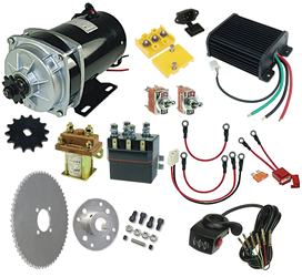 48 Volt 1000 Watt Rhoades Car Electric Motor Power Kit with Thumb Throttle and Reverse