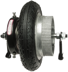 Rear Wheel with Flat-Free Rubber Tire for eZip 150, IZIP I-130, and IZIP I-135 Electric Scooters