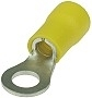 Yellow Insulated #10 Ring Terminal Connector for 12-10 Gauge Wire