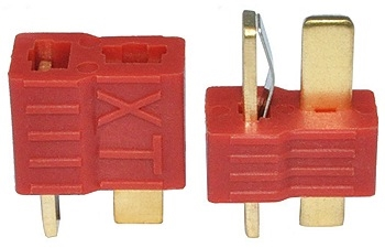 XT 2 Pin Red Wire Connector Set