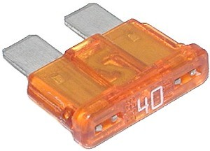10 Pack Of 40 Amp ATO Blade Fuses