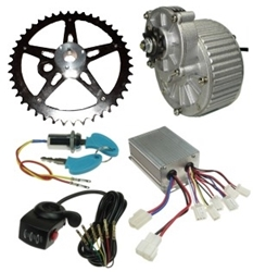 24 Volt 450 Watt Electric Beach Wagon Power Kit