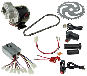 24 Volt 350 Watt Electric Beach Cart Power Kit with Reverse