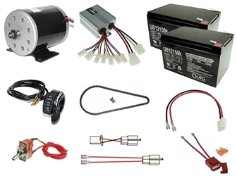 24 Volt 500 Watt Razor Ground Force and Ground Force Drifter Modification Kit with Reverse