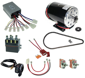 36 Volt 1000 Watt Razor Ground Force and Ground Force Drifter Modification Kit with Reverse