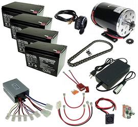 48 Volt 1000 Watt Razor Ground Force and Ground Force Drifter Modification Kit