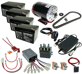 48 Volt 1000 Watt Razor Ground Force and Ground Force Drifter Modification Kit with Reverse