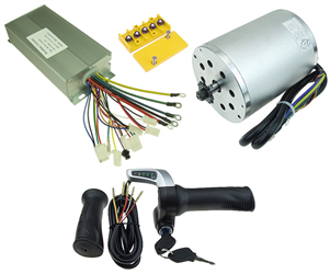 48 Volt 1800 Watt Brushless Motor, Controller, and Throttle Kit