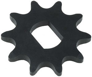 10 Tooth 17mm Double D-Bore Sprocket for #40, #41, and #420 Chain
